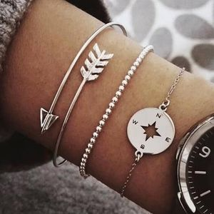 Tina Travels! Silver Bracelet Set